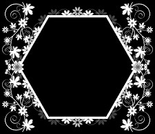 flowered-hexagon