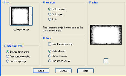 create mask from source luminance, orientation=fit to canvas, invert transparency=unticked, hide all mask